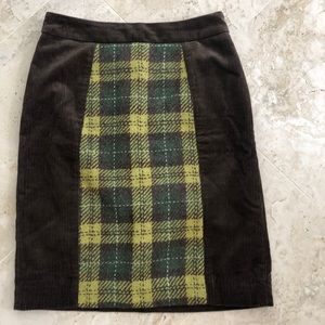 anthropology Maeue cauterize skirt